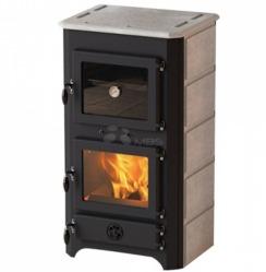 Печь на дровах с водяным контуром MBS Thermo Vulkan Plus черная + камень