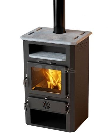 Печь на дровах с водяным контуром MBS Thermo In черная