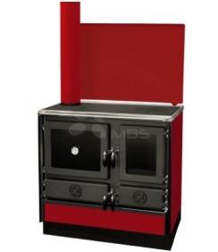 Отопительно-варочная печь с водяным контуром MBS Thermo Mag L бордо