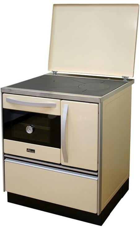 Отопительно-варочная печь с водяным контуром MBS Thermo Royal 720 L кремовая