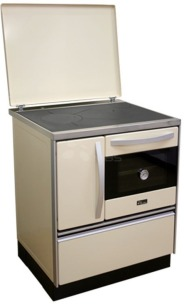 Отопительно-варочная печь с водяным контуром MBS Thermo Royal 720 R кремовая
